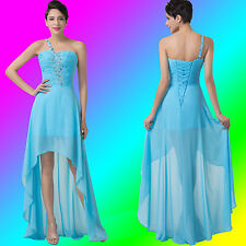 Chiffon High-Low Formal Ball Gown Evening Prom Party Bridesmaid Women Dresses GK