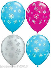 "Disney Frozen Party Supplies Latex Balloons Snowflakes 11"" balloon decorations"