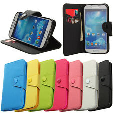 Flip Leather Card Wallet Pouch Case Cover Stand for Samsung Galaxy S4 S3 Note 2