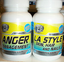 Vitamin Supplements LA Muscle-Skin, Hair and Nails Or Anger Management Unopened