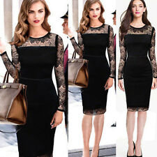 NEW Womens Celebrity Sexy See-through Cocktail Party Lace Dress Pencil Skirt