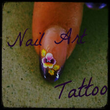 nail art TATTOO WATER decal sticker ONE STROKE micropittura -- 12 varianti FIORI