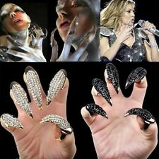 NEW Gothic Punk Cool Rock Eagle Claw Rhinestones Finger Nail Hook Ring
