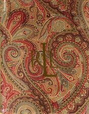 RALPH LAUREN  TABLECLOTH- FENTON/PAISLEY/RUST-100% COTTON -ASSORTED SIZES