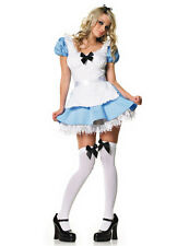 Sexy Diseny Theme Fancy Alice In Wonderland Maid Costume Fancy Dress Outfit Blue