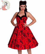 Robe Rouge HELL BUNNY 50 ' S Vanessa Floral Squelette
