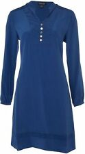 Episode cobalt blue silk military bib tunic dress UK 8 10 12 14 16 18 rrp £150