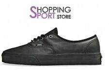 Scarpe Vans Authentic Leather Black Nere Classiche Basse Pelle VQERL9M