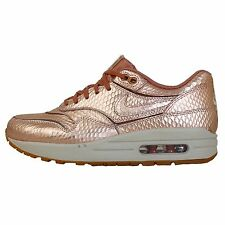 Nike Wmns Air Max 1 Cut Out PRM Premium Bronze Snake 2014 Womens Running Shoes