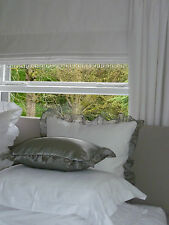 'The White Linen  Made to Measure Roman Blind & Cushions...