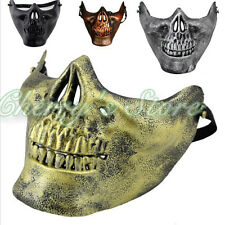 New Half Face Halloween Masquerade Live CS Protective Skull Mask Cosplay Costume