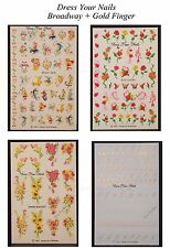 Broadway  Water Decal Nail Art Transfers Stickers  Gold Finger Flowers Fantasy