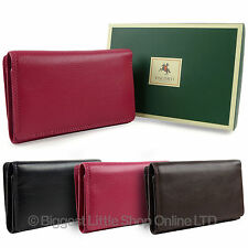 NEW Ladies LEATHER Medium Flap Over PURSE WALLET by Visconti HERITAGE GIFT BOX