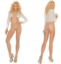 CROTCHLESS SHEER Pantyhose EM NUDE/BEIGE O/S & PLUS