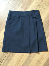 Girls Navy Blue Non Iron Dirt Defence School Skirt Elasticated Waist up to 12-13