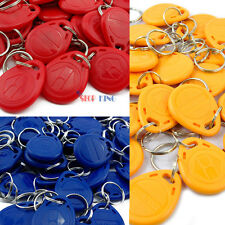 100Pcs 125Khz RFID Proximity ID Card Token Tags Key Keyfobs Access Control EC