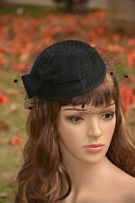 Women Veil Netting Bow Fascinator Hair Clip Cocktail Party Wedding A068