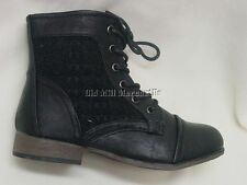 Child's Girls Youth size Victorian granny style black boot sizes 10-4