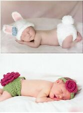 Cute Newborn Toddler Baby Kids Crochet Knit Cloth Photo Prop Outfits 0-9M