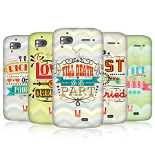 HEAD CASE WEDDING VOWS PROTECTIVE COVER FOR HTC SENSATION XE