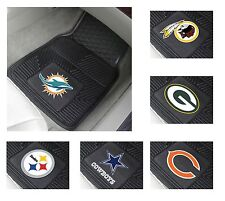 New 2 Piece NFL Football Team Logo Themed Vinyl Car Mat Carpet Floor Rug Set