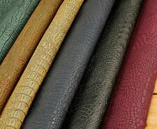 "MAT32 SHINY CROCODILE EMBOSSED PU LEATHER FABRIC 54"" DIY"