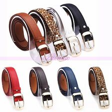 Fashion Colorful Women Paint Leather Alloy Pin Buckle Waist Strap Belt Waistband
