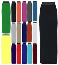 NEW WOMENS LADIES PLUS SIZE JERSEY LONG MAXI SKIRT GYPSY STRETCHY DRESS UK 16-26