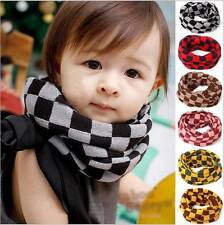 Lattice Girls Boy Kids Child Winter Knitted Neck Soft Scarf Scarves Snood Tube