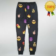 New Casual black Thicken EMOJI Autumn winter print 3D Jogger Pants for men women