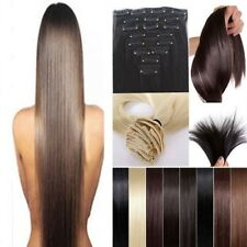 lady fantastic full head 8pcs clips in hair extensions straight curly hair wm