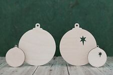 Wooden Christmas baubles, 4mm birch ply wood craft blank, Xmas tree decoration