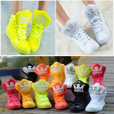 Womens High Top Leather Athletic Boots Fashion Sneakers Sweet candy Girls Shoes