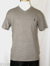 Polo Ralph Lauren Gray Heather V-Neck T-Shirt Polo Pony S M L XL XXL NWT