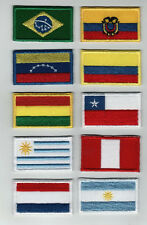 Sudamerica Country Flag Multi Color Embroidered Patch Colombia, Chile, Bolivia