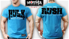 NEW Monsta Clothing HULK OUT: FEEL THE RUSH Workout Bodybuilding Fitness Gym Tee