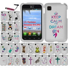 FOR LG Optimus Dynamic II L39C Turtle HARD Rubberized CASE Protector Cover + Pen