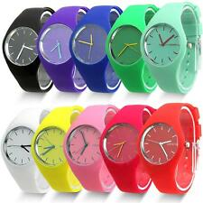 Hot unisex's Sport Round Dial Silicone Band Chic Analog Quartz Wrist Watch New