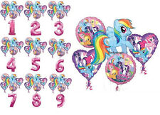 MY LITTLE PONY BIRTHDAY PARTY BALLOONS BOUQUET SUPPLIES DECORATIONS NUMBERS