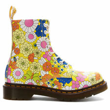 NEW GENUINE DR MARTENS DOCS WOMENS PASCAL YELLOW VINTAGE DAISY LEATHER 8 EYE