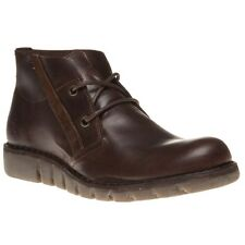 New Mens Fly London Brown Onile Leather Boots Chukka Lace Up