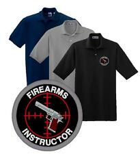 Firearms Instructor Embroidered Polo Sport Shirt M-5X Police Sheriff BLET