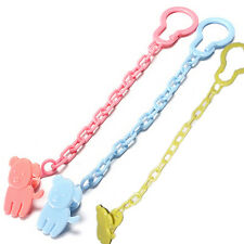 Baby Infant Dummy Pacifier Soother Chain Clip Holder Toddler Toy Gift 3 color