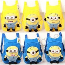 New Despicable Me 2 Minions 3D Eye Dave/Jorge/Stewart Kid Plush Soft Backpack