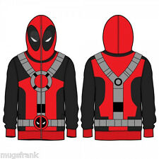 Deadpool Marvel Costume Zip up Eye Holes Hoodie Jacket Shirt