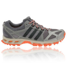 Adidas Kanadia TR6 Womens Grey Orange Cushioned Light Trail Running Shoes New