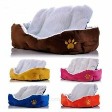 Large Small Pet Dog Puppy Cat Soft Warm Cozy Nest Bed House Plush Pad Cotton Mat