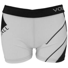 Printed Spandex Sport Shorts - White Volleyball - Black/White - XS