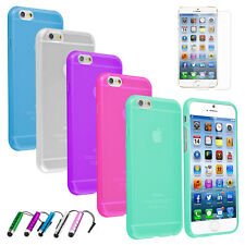 Transparent Clear Slim Hard TPU Case Cover + Screen Protector For iPhone 6 (4.7)