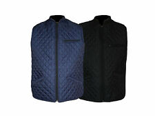 Mens Gilet Sleeveless Jacket Coat Bodywarmer Quilted Padded Black Navy